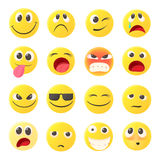 Emoticon icons set, cartoon style Royalty Free Stock Photography