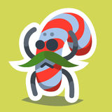 Emoticon-Ikonen-guten Rutsch ins Neue Jahr-Süßigkeit Lizenzfreie Abbildung