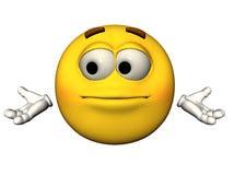 Emoticon impotente Fotografie Stock Libere da Diritti