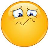 Emoticon indisposto de sentimento Imagens de Stock Royalty Free