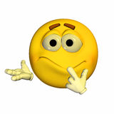 Emoticon - insicuro Immagini Stock