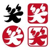 Emoticon - japończyka znaczka set royalty ilustracja