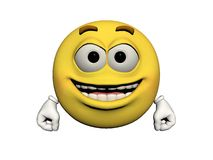 Emoticon joyful Royalty Free Stock Photo