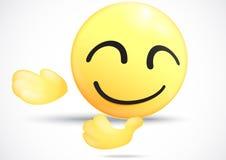 Emoticon kłonienia puszek zaprasza Zdjęcie Royalty Free