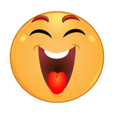 Emoticon laughing with closed eyes Stock Images