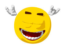 Emoticon Lets Rock Royalty Free Stock Images