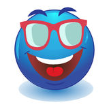 Emoticon looking over sunglasses Stock Photo