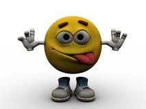 Emoticon - louco Imagem de Stock