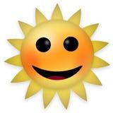 Emoticon luminoso felice del sole Fotografie Stock Libere da Diritti