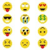 Emoticon med olika sinnesrörelser royaltyfri illustrationer