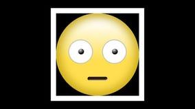 Emoticon met opgeheven wenkbrauwen en beide verwijde ogen royalty-vrije illustratie