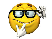 Emoticon Nerdy imagem de stock royalty free