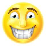 Emoticon nervioso de Emoji de la sonrisa Imágenes de archivo libres de regalías