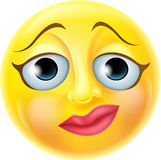 Emoticon nervoso de Emoji Imagem de Stock Royalty Free