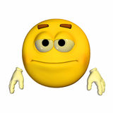 Emoticon - neutrale Person Stockbild