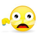 Emoticon obniżał jego szkła Nauczyciela emoticon Szoka emoticon ilustracji