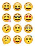12 emoticon - pacchetto 1 - ENV - illustratore fotografia stock