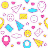 Emoticon pattern Stock Photography