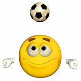 Emoticon - Playing football / soccer Royalty Free Stock Photography