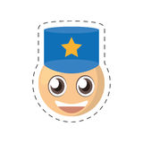 Emoticon policeman comic image Royalty Free Stock Photo