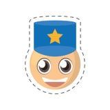 emoticon politieagent grappig beeld Royalty-vrije Stock Foto
