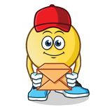 Emoticon postman mascot vector cartoon illustration royalty free illustration