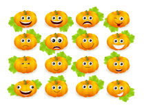 Emoticon pumpkin Stock Photography