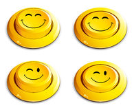 Emoticon push button Stock Photos