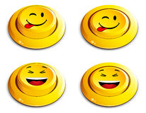 Emoticon push button Royalty Free Stock Photo