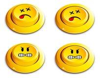 Emoticon push button. On white stock illustration