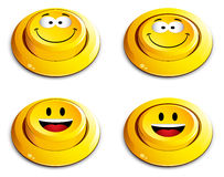 Emoticon push button Royalty Free Stock Images