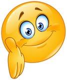 Emoticon que dá a mão Imagem de Stock