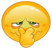 Emoticon do cheiro mau ilustração stock