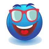 Emoticon que mira sobre las gafas de sol Foto de archivo