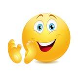 Emoticon que muestra el pulgar para arriba Imagen de archivo libre de regalías