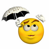 Emoticon - Raining Royalty Free Stock Images