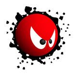 Emoticon ribelle Immagine Stock