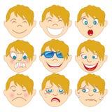 Emoticon rubio Emoji del muchacho fotos de archivo libres de regalías