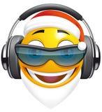 Emoticon Santa DJ Fotografia de Stock Royalty Free