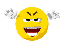 Emoticon Scary Stock Photos