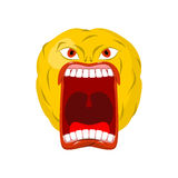 Emoticon screams. Open mouth and teeth. Crazy Emoji. emotion yel Royalty Free Stock Photography