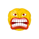 Emoticon screams. Open mouth and teeth. Crazy Emoji. emotion  Stock Images