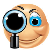 Emoticon searching Stock Image