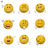 Emoticon set Stock Photos