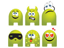 Emoticon set Stock Photography