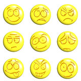 Emoticon set. Set of emoticons 3d on a white background Royalty Free Stock Photo