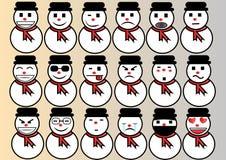 Emoticon set Christmas and winter royalty free illustration