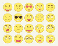 Emoticon set. Emoticon for web site, chat, sms. Modern flat design. Vector Royalty Free Stock Photo