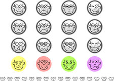 Emoticon sets Royalty Free Stock Image