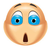 Emoticon shocked Royalty Free Stock Photography